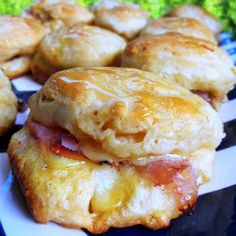 Honey Ham Biscuit Sliders - Football Friday