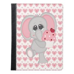 Baby Elephant Loves Cupcakes iPad Case - baby gifts child new born gift idea diy cyo special unique design