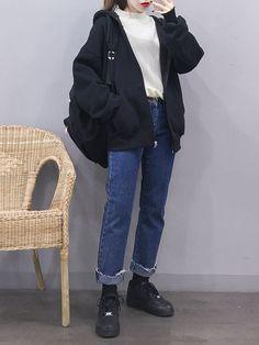 Korean Fashion – How to Dress up Korean Style Korean Street Fashion, Korea Fashion, Asian Fashion, Look Fashion, 90s Fashion, Winter Fashion, Fashion Outfits, Aesthetic Fashion, Aesthetic Clothes