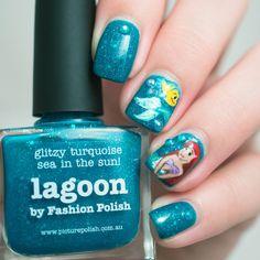 Petite Peinture Little Mermaid Nail Art piCture pOlish Lagoon Born Pretty
