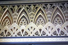 This art deco panel adorns the street entrance of the Desmond's building on Wilshire Boulevard in the Miracle Mile. Desmond's became the first high-end department store in the area in 1928.