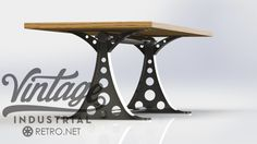 O Frame Table Model #CPT29 Built with a heavy steel base. Shown with a hardwood top. Various tops and base colors available. Feel free to contact us if you see something you like.