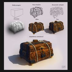 pirate's Chest by Max Sabetskiy on ArtStation.