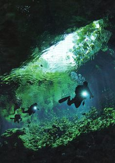 Divers at Grand Cenote plumb the depths of what the Maya considered a portal to the underworld.
