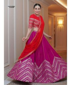 Find top amazing chevron pattern lehenga designs for weddings. Beautiful Chevron Lehenga designs for brides and bridesmaids must check out once. Choli Designs, Lehenga Designs, Saree Blouse Designs, Sari Blouse, Indian Lehenga, Bridal Lehenga Choli, Silk Lehenga, Organza Saree, Indian Wedding Outfits