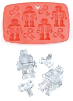 Chill Bot Ice Tray (NB: orig pin URL   http://shop.uncovet.com/chill-bot-ice-tray but you have to be a member to get more info, so I'm redirecting to the manufacturer site)