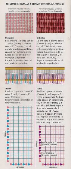 Taller de Ana María: PUNTOS TELAR MARIA O TELAR DE PEINE Loom Weaving, Hand Weaving, Fabric Weaving, Tapestry Loom, Types Of Weaving, Weaving Projects, Weaving Patterns, Weaving Techniques, Loom Knitting