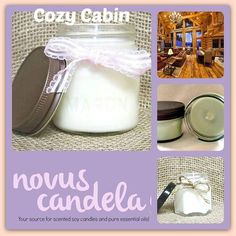 Bring the scent of winter air sweet amber mandarin leaf white cedar raw cinnamon rich cardamom nutmeg shavings sandalwood and cashmere vanilla. to any room with our made to order Cozy Cabin Soy Scented Candle.  As a purist every candle I make is scented with fragrance or pure essential oil and are 100% dye free giving my candle an ivory color. Made in small batches each candle has a cotton wick and is hand pour into rustic 4 or 8 ounce mason jars with a rustic lid. Perfect for the any room…