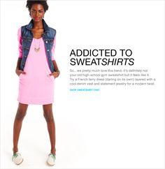 Love this sweatshirt dress from Gap!  Looks so comfy!