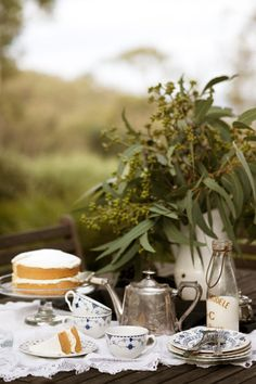 Afternoon tea in the country
