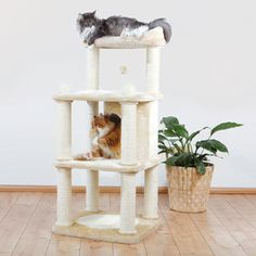 cheap belinda cat tree made of plush sisal mdf wood elastic band by trixie petu2026