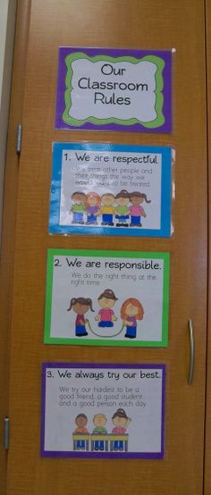 "Cute FREE classroom rules posters!  ....Follow for Free ""too-neat-not-to-keep"" teaching tools & other fun stuff :)"