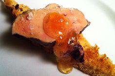 Foie gras poché au café