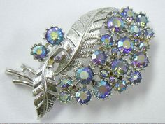 Vintage CORO Purple AB Rhinestone Silver by YourVintageDesires, $24.00