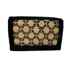 50s Zardozi Clutch, Black Velvet Gold Embroidered Persian Evening Bag by MorningGlorious on Etsy
