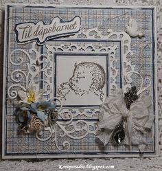EttTrykk Handmade Håndlaget Scrapping Scrappe NorthStarStamps Kortparadis NorthStarDesign  Baby Babycard Dåp Dåpskort Korthobby.no Korthobby