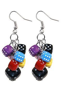 Dice earrings for BUNCO girls