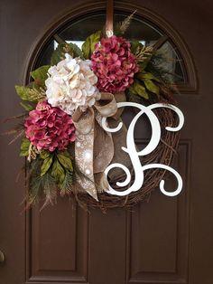 Spring / Summer Hydrangea Wreath for Front Door Everyday