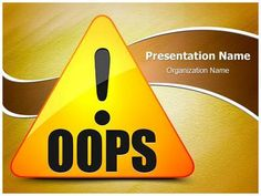 Check out our professionally designed Oops Error PPT template. Download our Oops Error PowerPoint presentation affordably and quickly now. Get started for your next PowerPoint presentation with our Oops Error editable ppt template. This royalty free Oops Error Powerpoint template lets you to edit text and values and is being used very aptly for Oops Error, safety, dangerous, bug, notice, problem, error and such PowerPoint presentation.