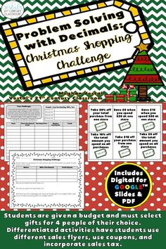 In this real-world Christmas Math Activity, students are given a budget of $75 and must shop for four people of their choice using sales flyers and catalogs. This is the perfect Christmas Math Activity for the classroom! #vestals21stcenturyclassroom #christmasmathactivities #christmasmathactivitiesforkids