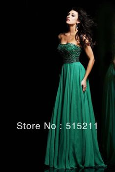 Wholesale Elegant Beading Sweetheart Backless Emerald Green Chiffon Long Evening Dresses Prom Party Gowns 2014, Free shipping, $137.29/Piece | DHgate Mobile
