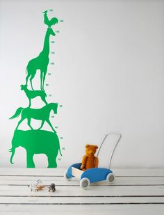 Ferm Living Animal Height Chart @ designvintage.co.uk.  Also available in Blue and Red.