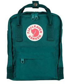 De Kanken mini in de kleur ocean green van Fjallraven (€59,95)