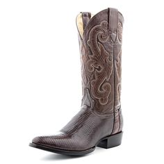 Circle G Chocolate Lizard Cowboy Boots