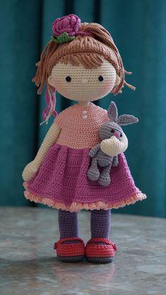Fotos de Marina Tsydenova | VK Knitting Dolls Free Patterns, Knitted Dolls Free, Crochet Dolls, Crochet Patterns, Crochet Hats, Fairy Coloring Pages, Lalaloopsy, Love Crochet, Amigurumi Doll