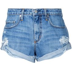Nobody Denim Boho Short Angellic (2.575 ARS) ❤ liked on Polyvore featuring shorts, bottoms, blue, ripped short shorts, boho shorts, distressed shorts, mid rise shorts and short shorts