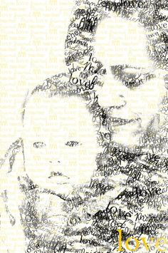 Personalized Text Art Portrait by MoonlitMornings on Etsy, $20.00