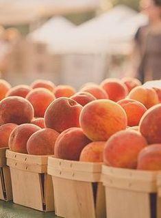 Summer peach baskets