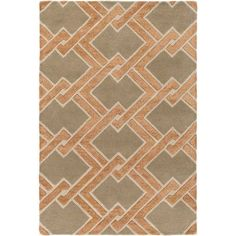 Surya Chamber Hand-Tufted Brown/Neutral Area Rug Rug Size: