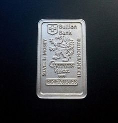 1/10 oz Gryphon .999 Fine Silver Bar bu  Bullion Bank . Starting at $4