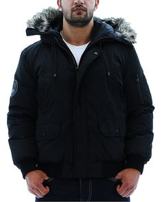 Black Kenneth Cole Reaction Men's Bubble Down Jacket Coat Hooded Faux Fur. Click here for all Kenneth Cole NYC outerwear for men & women http://www.streetmoda.com/collections/discount-kenneth-cole-winter-outerwear-coats-jackets from Streetmoda.com Everything is on sale with huge discounts.