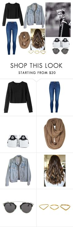 """""""Watching Niall play soccer"""" by anonymousrose19 ❤ liked on Polyvore featuring Monki, adidas, American Apparel and Christian Dior"""