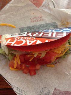 Fiery Doritos Locos Taco from Taco Bell.  Yummy!