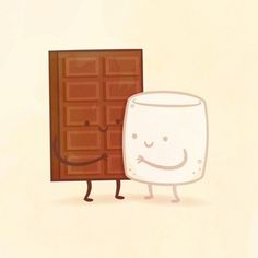 Which Adorable Food Pair Are You And Your Best Friend? I got Chocolate and Marshmallow!!!