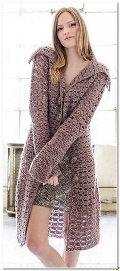 Пальто крючком | Вязание для всей семьи
