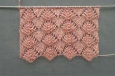 Risultati immagini per ponto de trico chains paternn Baby Knitting Patterns, Baby Sweater Knitting Pattern, Crochet Headband Pattern, Knitting Stiches, Knitting Videos, Lace Patterns, Crochet Motif, Lace Knitting, Knitting Designs
