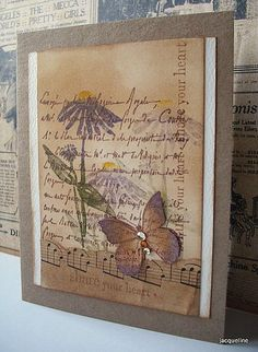 Toutes les tailles | French writing and butterfly stamp... again | Flickr: partage de photos!