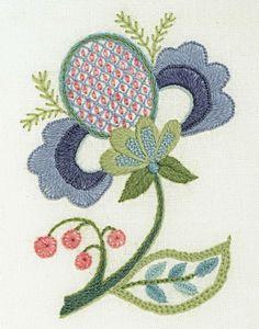 Blue Petals by Anna Scott The Crewel Gobelin Якобинская вышивка