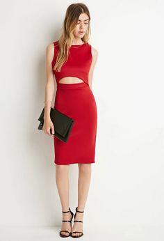 Cutout Scuba Knit Dress | Forever 21 #thelateset