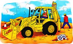 A #digger is busy #preparing the #ground.