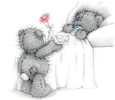 Tatty Teddy © Me to you … Tatty Teddy, Get Well Soon Quotes, Blue Nose Friends, Operation, Love Bear, Cute Teddy Bears, Get Well Cards, Getting Pregnant, Friends Forever