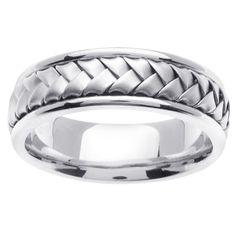 mens wedding bands white gold