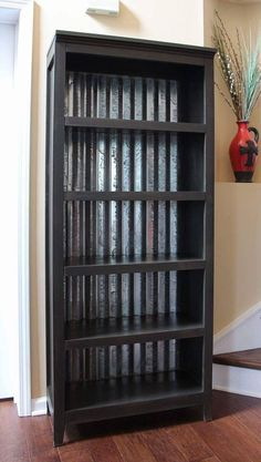 Industrial rustic bookcase with aged corrugated metal back by EclectiquesByDunn on Etsy https://www.etsy.com/listing/247352016/industrial-rustic-bookcase-with-aged