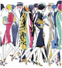 1929 fashion illustration