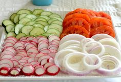 When serving lox and bagels, don't forget the veggies!