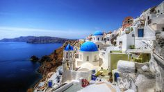 Gorgeous Greece: Santorini - Flirting with the Globe Mykonos, Santorini Greece, Santorini Island, Beautiful Islands, Beautiful Places, Amazing Places, Greece Tourist Attractions, The Places Youll Go, Places To Go
